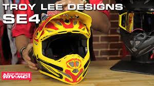 troy lee motocross gear troy lee designs se4 carbon helmet youtube
