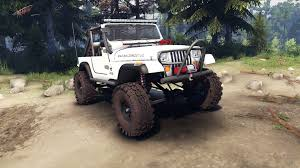 jeep white jeep yj 1987 open top white for spin tires