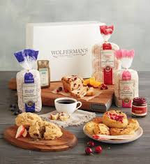 muffin basket delivery berry breakfast box wolferman s