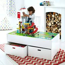Kids Activity Table With Storage Diy Play Table With Wheeled Storage Carts Via Ana White Storage
