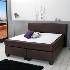 Schlafzimmer Braunes Bett Boxspringbett Helsinki 140x200 Stoff Braun Dänisches Bettenlager