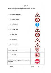 english teaching worksheets traffic signs