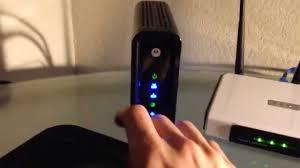 arris modem lights sb6121 motorola surfboard sb6121 youtube
