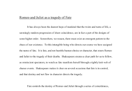 theme of fate in romeo and juliet essay romeo and juliet as a tragedy of fate gcse english marked by