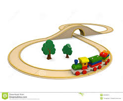 wooden toy train with track royalty free stock photo image 25968815