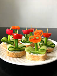 cuisine appetizer vegan flower appetizers with herb cheese the green loot