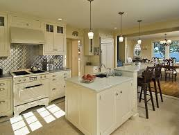 Buy Stainless Steel Backsplash by Traditional Kitchen With Breakfast Bar By Maureen Green Zillow