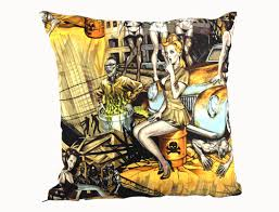 pin up zombie cushion cover undead spoof of classic 50 u0027s