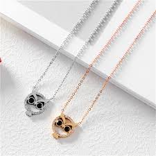 gold owl pendant necklace images Simple tiny necklace rhinestone owl pendant necklace women trendy jpg