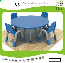 Plastic Table And Chairs China Kaiqi Children U2032s Tableand Chairs Round Shape Many