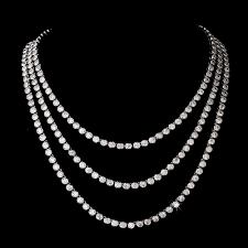 wedding necklace photos images Multi strand cz wedding necklace vega solitaire cz bridal necklace jpg
