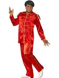 male groovy disco dancer costume includes blue jumpsuit with