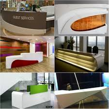 Rounded Reception Desk by Half Round Reception Desk Reception Counter C Shape Reception Desk