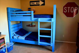 bed plans white rustic cabin bunk bed diy projects industrial free