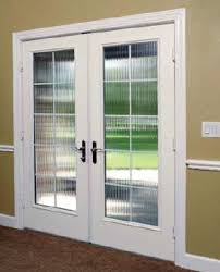 French Doors With Blinds In Glass Hinged Patio Doors Canvas Architect Series Wood Hinged Patio