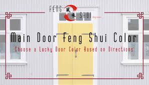 choosing colors for front doors according feng shui