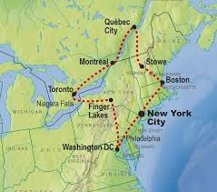 northeastern cus map canada tours east coast usa tours tours of canada eastern usa