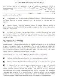 makeup contracts for weddings makeup artist client contract template mugeek vidalondon