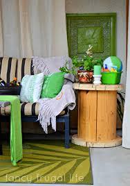 Cabana Curtains Cabana U201d Patio Makeover With Diy Drop Cloth Curtains