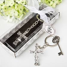 keychain favors intertwined cross keychain favors