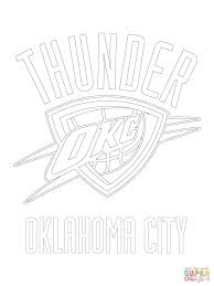 oklahoma city thunder logo coloring page free printable coloring