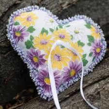 jute twine shaped wedding ring holder pillow keepsake