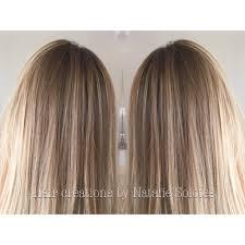 blonde colormelt color transition using olaplex dark blonde sombre