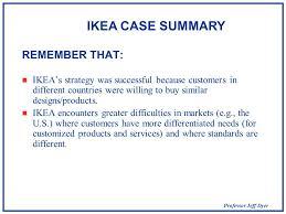 Ikea Services Global Strategic Management Ikea Analyzing Industry Globalization