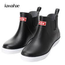 rubber shoes comfortable waterproof men u0027s rain boots round toe