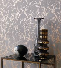 Interior Wallpaper Desings by Angles Copper Rose White Wallpaper By Erica Wakerly Wallpaper