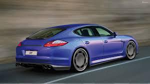 Porsche Panamera Back - running 9ff porsche panamera turbo in blue back side pose wallpaper