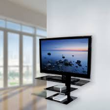 garage wall shelves living glass tv shelves wall mount triple black tempered glass