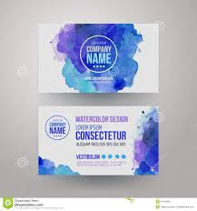 vector template watercolor business cards download from over 40