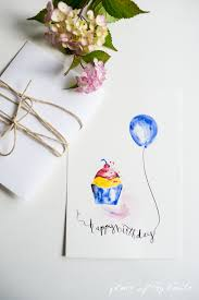 free bday cards free watercolor birthday card printables capturing with