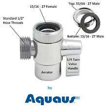 aquaus faucet diverter valve with male thread adapter amazon com
