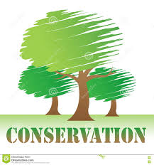 conservation trees indicates go green and eco stock illustration
