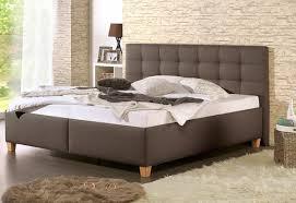 Schlafzimmer Bett Buche Home Affaire Polsterbett Braun Inkl Lattenrost Und 7 Zonen