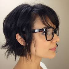 hairstyles fir bangs too short best 25 short hair glasses ideas on pinterest girls with