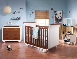 baby nursery modern nautical baby room idea using white and brown
