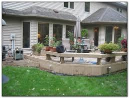 ground level wood deck design decks home decorating ideas