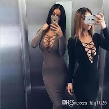 tight dress european style women tight dress cross straps v neckline