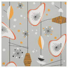 Mid Century Modern Fabric Reproductions 1950s Fabric Zazzle