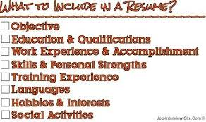 Activities To Put On Resume Personal Interests Cvlook03 Billybullock Us