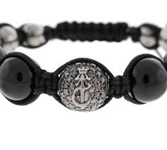 onyx bracelet with diamonds images Blackout buddha bead silver and onyx bracelet with black diamonds jpg