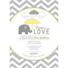 and grey elephant baby shower printable invitation