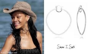 rihanna hoop earrings rihanna in i smith hoop earrings haus of rihanna