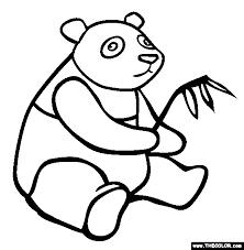 giant panda coloring page free giant panda online coloring