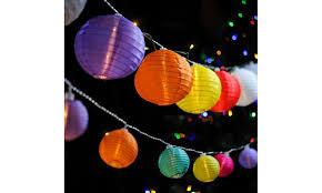led lantern string lights 48 multi color led lantern string lights for indoor and outdoor use