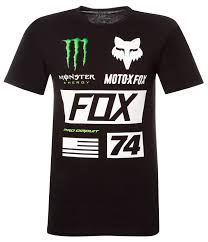 monster energy motocross jersey fox t shirt pro circuit monster union collection black maciag