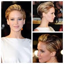 short ballroom hair cuts jennifer lawrence pixie styled like a sleek updo best of short